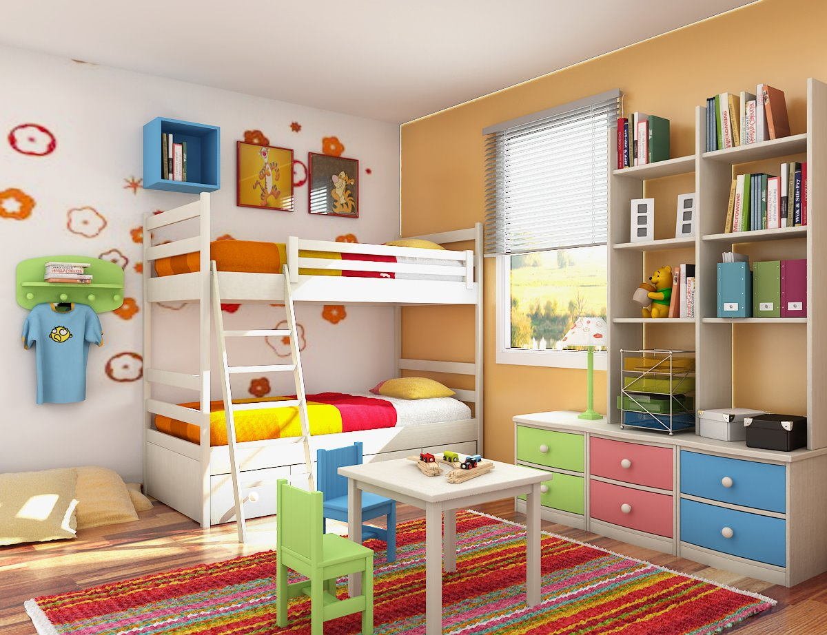 Kids Room Decor on contemporary kid friendly apartment