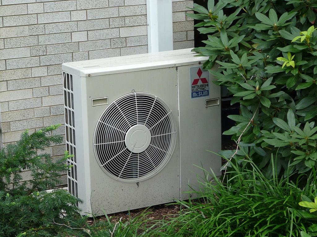 Preparing Your Air Conditioner for Summer is important for keeping it in top shape ... photo by CC user Piotrus on wikimedia commons